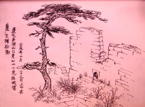 继续长城与松树   于  21:21:31 发表在分类:速写 中 (38976次点击)